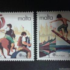 Sellos: SELLOS DE MALTA. EUROPA CEPT. YVERT 616/7. SERIE COMPLETA NUEVA SIN CHARNELA.. Lote 55131312