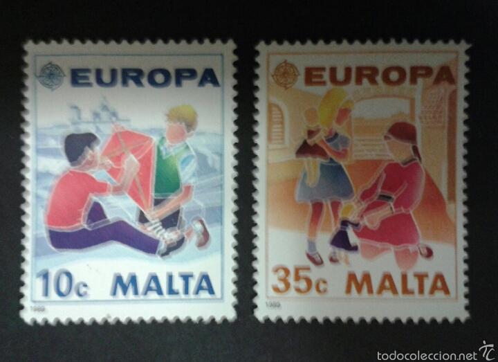 SELLOS DE MALTA. EUROPA CEPT. YVERT 795/6. SERIE COMPLETA NUEVA SIN CHARNELA. (Sellos - Extranjero - Europa - Malta)