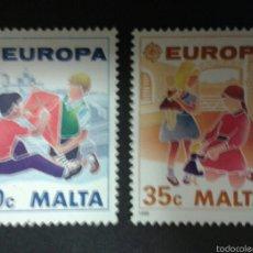 Sellos: SELLOS DE MALTA. EUROPA CEPT. YVERT 795/6. SERIE COMPLETA NUEVA SIN CHARNELA. . Lote 55145437