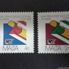 Sellos: SELLOS DE MALTA. YVERT 618/9. SERIE COMPLETA NUEVA SIN CHARNELA.. Lote 55145440