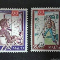 Sellos: SELLOS DE MALTA. YVERT 620/1. SERIE COMPLETA NUEVA SIN CHARNELA. . Lote 55145445