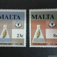 Sellos: SELLOS DE MALTA. YVERT 622/3. SERIE COMPLETA NUEVA SIN CHARNELA. . Lote 55145454