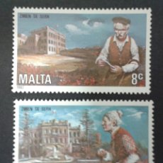 Sellos: SELLOS DE MALTA. YVERT 647/8. SERIE COMPLETA NUEVA SIN CHARNELA.. Lote 55145462