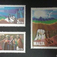 Sellos: SELLOS DE MALTA. YVERT 654/6. SERIE COMPLETA NUEVA SIN CHARNELA.. Lote 55145493