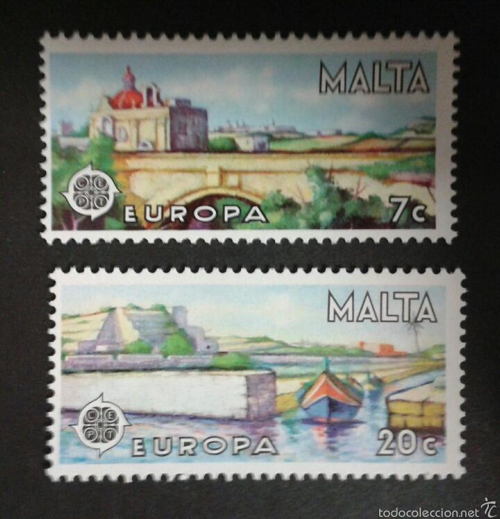 SELLOS DE MALTA. YVERT 549/50. EUROPA CEPT. SERIE COMPLETA NUEVA SIN CHARNELA. (Sellos - Extranjero - Europa - Malta)