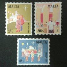 Sellos: SELLOS DE MALTA. YVERT 640/2. SERIE COMPLETA NUEVA SIN CHARNELA.. Lote 55145512