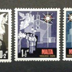 Sellos: SELLOS DE MALTA. NAVIDAD. YVERT 419/21. SERIE COMPLETA NUEVA SIN CHARNELA.. Lote 55145575