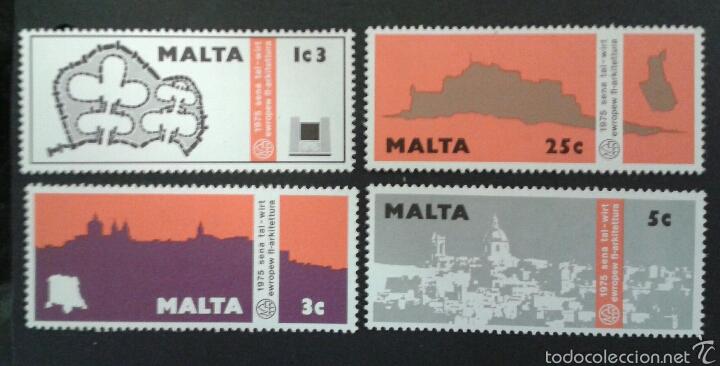 SELLOS DE MALTA. YVERT 509/12. SERIE COMPLETA NUEVA SIN CHARNELA. (Sellos - Extranjero - Europa - Malta)