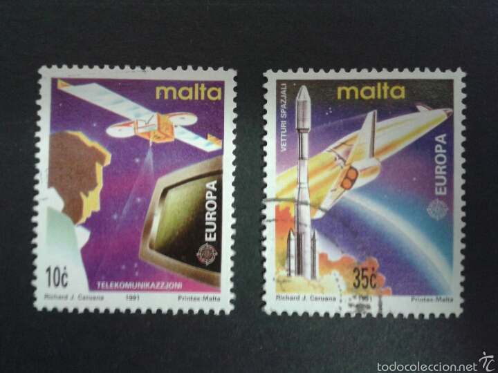 SELLOS DE MALTA. EUROPA CEPT. YVERT 833/4.. SERIE COMPLETA USADA. (Sellos - Extranjero - Europa - Malta)