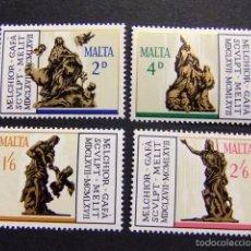 Sellos: MALTA MALTE 1967 OBRAS DEL ESCULTOR MELCHIOR GAFA YVERT N º 358 /361 ** MNH. Lote 56560925