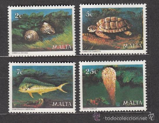MALTA 1979 IVERT 588/91 *** FAUNA MARINA (Sellos - Extranjero - Europa - Malta)