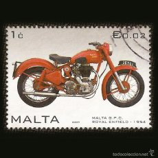 Sellos: MALTA 2007 - SELLO DE 0.02 € - MALTA G.P.O. - ROYAL ENFIELD - 1954. Lote 58242758