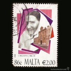 Sellos: MALTA 2007 - SELLO DE 2.00 € - CAROLINA CAUCHI. Lote 58242988