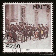 Sellos: MALTA 2009 - SELLO DE 2.50 € - TRANSPORTE CORREOS - POSTAL TRANSPORTATION. Lote 58243095