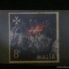 Sellos: MALTA SELLO CONMEMORATIVO INDEPENDENCIA 1565/1965. Lote 58553293