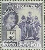 MALTA IVERT 239, ISABEL II Y MONUMENTO AL GRAN SITIO DE 1865, NUEVO *** (Sellos - Extranjero - Europa - Malta)