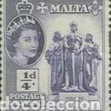 Sellos: MALTA IVERT 239, ISABEL II Y MONUMENTO AL GRAN SITIO DE 1865, NUEVO ***. Lote 64487215