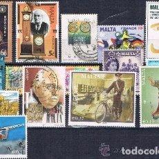 Sellos: MALTA - LOTE DE 15 SELLOS - VARIOS (USADO) LOTE 2. Lote 66797946