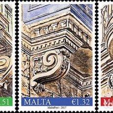 Sellos: MALTA 2017 - BALCONY CORBELS II STAMP SET MNH. Lote 86684572