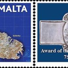Sellos: MALTA 2017 - 75TH ANNIVERSARY FROM THE AWARD OF THE GEORGE CROSS TO MALTA PAIR . Lote 86684588