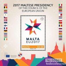 Sellos: MALTA 2017 2017 PRESIDENCIA MALTESA DEL CONSEJO DE LA UNIÓN EUROPEA. Lote 90489969