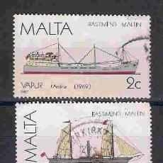 Sellos: BARCOS DE MALTA. SELLOS AÑO 1985/7. Lote 91416160