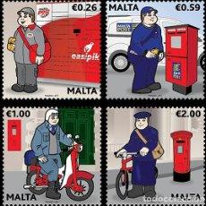 Sellos: MALTA 2017 UNIFORMES POSTALES. Lote 96976231