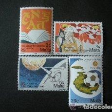 Sellos: MALTA 1990 IVERT 812/5 *** ANIVERSARIOS Y EVENTOS. Lote 98206251
