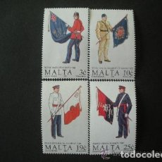 Sellos: MALTA 1991 IVERT 838/41 *** UNIFORMES MILITARES (V). Lote 98206303