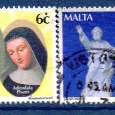 Timbres: MALTA.- CATÁLOGO YVERT Nº 1167/68, EN USADOS. Lote 100712307