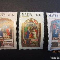 Sellos: MALTA 1983 3 VALORES NUEVO. Lote 103192847