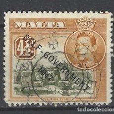 Sellos: MALTA - COLONIA BRITÁNICA - SELLO USADO SOBREIMPRESO. Lote 106068351