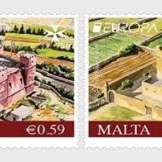 Sellos: MALTA 2017 - EUROPA 2017 - CASTLES STAMP SET MNH. Lote 119035898
