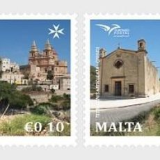 Sellos: MALTA 2017 - EUROMED JOINT ISSUE 2017 -'TREES IN THE MEDITERRANEAN STAMP SET MNH. Lote 115910023