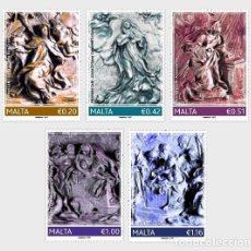 Sellos: MALTA 2017 - THE 350TH ANNIVERSARY FROM THE DEATH OF MELCHIORRE GAFA STAMP SET MNH . Lote 115911011