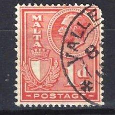 Sellos: MALTA - COLONIA BRITÁNICA - SELLO USADO . Lote 120359615
