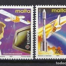 Sellos: MALTA 1991 - YVERT 833/4 - SELLOS NUEVOS - SERIE COMPLETA. Lote 124288039