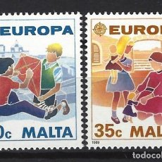 Sellos: MALTA 1989 - YVERT 795/6 - SELLOS NUEVOS - SERIE COMPLETA. Lote 124289067
