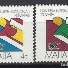Sellos: MALTA 1981 - YVERT 618/9 - SELLOS NUEVOS - SERIE COMPLETA. Lote 124290931