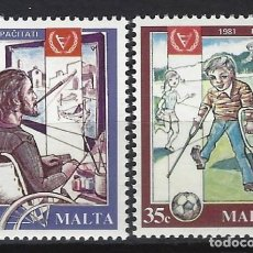 Sellos: MALTA 1981 - YVERT 620/1 - SELLOS NUEVOS - SERIE COMPLETA. Lote 124291115