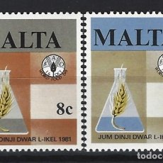Sellos: MALTA 1981 - YVERT 622/3 - SELLOS NUEVOS - SERIE COMPLETA. Lote 124291323