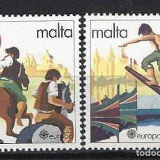 Sellos: MALTA 1981 - YVERT 616/7 - SELLOS NUEVOS - SERIE COMPLETA. Lote 124291391