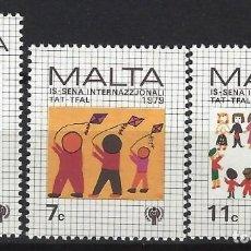 Sellos: MALTA 1979 - YVERT 585/7 - SELLOS NUEVOS - SERIE COMPLETA. Lote 124292503