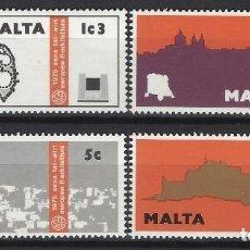 Sellos: MALTA 1976 - YVERT 509/12 - SELLOS NUEVOS - SERIE COMPLETA. Lote 124294223