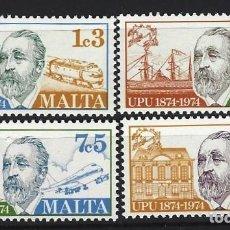 Sellos: MALTA 1974 - YVERT 492/5 - SELLOS NUEVOS - SERIE COMPLETA. Lote 124294419