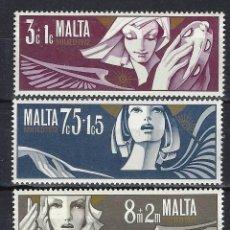Sellos: MALTA 1972 - YVERT 456/8 - SELLOS NUEVOS - SERIE COMPLETA. Lote 124294719