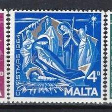 Sellos: MALTA 1964 - YVERT 300/2- SELLOS NUEVOS - SERIE COMPLETA. Lote 124297411