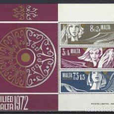 Sellos: MALTA 1972 - YVERT HB-2- HOJA NUEVA. Lote 124297687