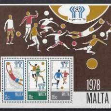 Sellos: MALTA 1978 - YVERT HB-5- HOJA NUEVA. Lote 124297907