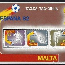 Sellos: MALTA 1982 - YVERT HB-7 - HOJA NUEVA. Lote 124298183